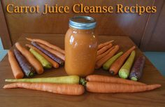 A whole bunch of Carrot Juice Recipes! The benefits of carrot juice are many and include vision protection as well as restoration, anti-cancer, a lower risk of coronary heart disease, memory improvement and brain health, liver protection, anti-inflammation, skin health, blood building, and more!