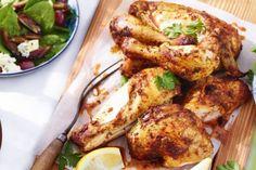 دجاج مشوي بالكركم على الطريقة الهندية