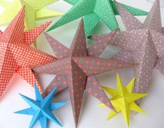 Star bright: String DIY paper stars into garlands, falling stars and more! #diy #birthdaybash