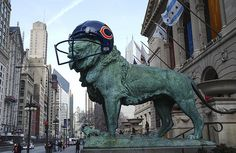 Chicago Bears Football ~ Chicago's Art Institute shows its support for the team.