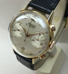 Elegant 1940's Vintage Minerva Chronograph 18k solid gold Cal. 20ch..for sale