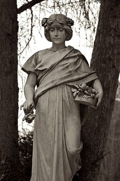 """Flower Girl"" sculpture in Wiesbaden, Germany"