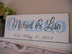 Wedding signBeach Wedding Personalized by 2chicsthatbelieve, $44.95