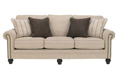 Linen Milari Queen Sofa Sleeper View 2
