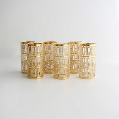 Glam Imperial Mid Century 24KT Gold by theenchantedfigtree on Etsy, $239.99