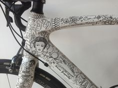 Illustrator Ugo Gattoni has teamed up with UK retailer Starley to turn a plain white bicycle into a work of art.