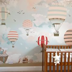 little hand illustration - incredible kids wallpapers (maps, music, scenes, etc) $55 for 10.5 sq ft of wallpaper