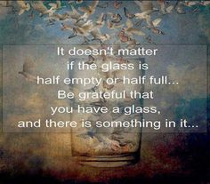 ❥ grateful to have a glass