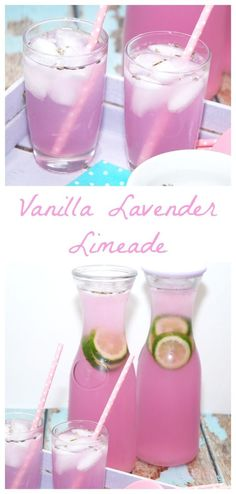Vanilla Lavender Limeade - a perfectly easy and refreshing spring drink with the benefits of soothing and calming lavender. Vanilla Lavender Limeade - a perfectly easy and refreshing spring drink with the benefits of soothing and calming lavender. Party Drinks, Cocktail Drinks, Fun Drinks, Yummy Drinks, Healthy Drinks, Healthy Food, Healthy Lemonade, Mixed Drinks, Nutrition Drinks