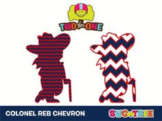 Ole+Miss+Rebels+Colonel+Reb+Chevron+SVG+DXF+Vector+by+SVGTREE
