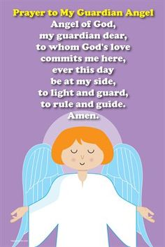 Happy Saints Prayer Posters: Happy Saints Guardian Angel Prayer Poster, $5.00 from HP MagCloud