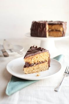 Whole Wheat, Brown Butter, Vanilla Bean Cake with Ganache Frosting (&Giveaway) | Naturally Ella