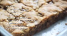 Vegan Blondie Ingredients