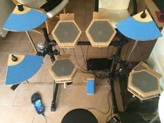 Homemade Electronic Drum Kit With Arduino Mega2560 : 10 Steps (with Pictures) - Instructables Direct Mail Design, E Drum, Simple Arduino Projects, Thermometer, Drum Kits, Sound Design, Poker Table, Homemade, Fun Ideas