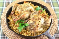 French Herb Roasted Cornish Hens