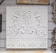 2x2 Ceiling tin tile salvaged in Minnesota | Antique Tin Ceiling Tiles in Whites | Pinterest | Ceilings Tin ceilings and Ceiling tiles & 2x2 Ceiling tin tile salvaged in Minnesota | Antique Tin Ceiling ...