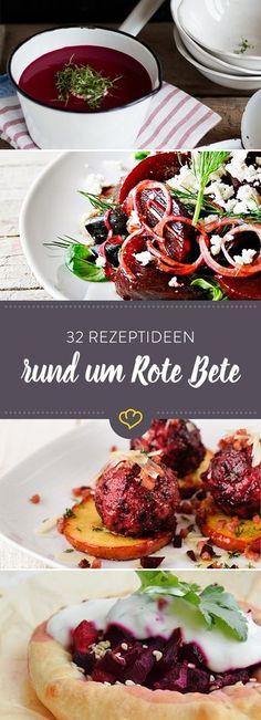 Knallrot, gesund und lecker - sag dem Winterblues mit Roter Bete ade. Von Suppe bis Salat, von Knödel bis Kuchen, so vielseitig ist die rote Winterrübe.