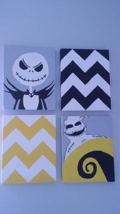 Nightmare Before Christmas Canvas Art by CoehicksCrafts on Etsy