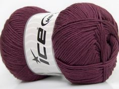 Ice yarn knitting yarn Baby AntiBacterial Maroon