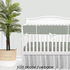 For our modern + minimal momma's out there. This sage green modern nursery look is complete with hand drawn stripes + coordinating Swiss cross pattern. We love how this look is modern and simple - leaving all the room for the baby to shine. Available in (9) color ways. Girl Crib Bedding Sets, Girl Cribs, Nursery Bedding, Boho Nursery, Nursery Decor, Girl Nursery, Woodland Baby Bedding, Custom Baby Bedding, Designer Baby Blankets