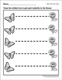 tracing horizontal lines preschool basic skills fine motor prewriting practice preschool. Black Bedroom Furniture Sets. Home Design Ideas