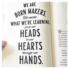 This page from @brenebrown 's book #RisingStrong resonates so much...especially that part about learning and moving it from our heads to our hearts.  I am speaking and writing a lot about combining our smarts  our hearts in business to make our products and services. I can't wait to launch my new brand and website designed by @magnoliahousecreative soon!  by heather_crabtree