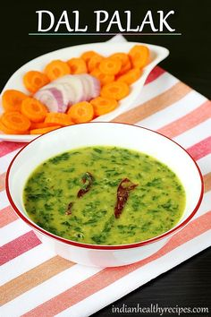 dal palak is Indian spinach dal. Dal palak is simple, delicious & healthy. Serve with rice or roti. Veg Recipes, Curry Recipes, Vegetarian Recipes, Cooking Recipes, Healthy Recipes, Spinach Recipes, Dal Palak Recipe, Dal Recipe, Lentil Recipes Indian