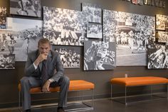 """""""Draft Day"""" movie still, 2014. Kevin Costner as GM Sonny Weaver. Football Movies, Kevin Costner, Film Serie, Photo Wall, Home Decor, Cinema, Game, Watch, Bedroom"""