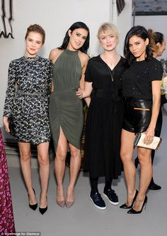 Close pals: She teamed up withZoey Deutch, musician Rosie Lowe and actress Jenna for a picture