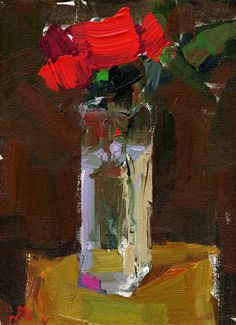 Rolli Still Life With Rectangular Vase acrylic