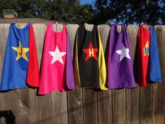 Custom Capes for kids with monogram on Etsy, $12.00. So cute for your little superhero!