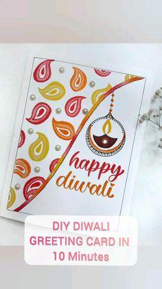 Greeting & Note Cards, Diwali Greeting Cards, Diwali Greetings, Diwali Diy, Paisley Pattern, Drawing For Kids, Indian Art, Diy Gifts, Pattern Design