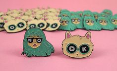 BFF pin set - I like Cats - AndSmile - Cat enamel pin - Cat lapel pin - lapel…