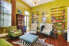 This home library is anything but boring!