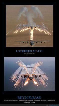 Disparando bengalas,... El A400M sí es el verdadero ángel de la muerte. Navy Marine, Army & Navy, Short Scary Stories, Angel Flight, Native American Beauty, May Bay, Military Humor, Support Our Troops, Military Helicopter
