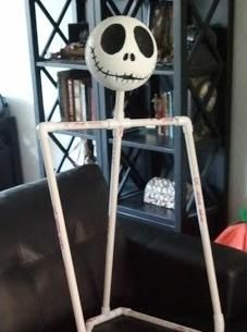 DIY Nightmare Before Christmas Halloween Props: Life-Size DIY Jack Skellington Prop