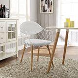 Modway Furniture Basket Modern White Dining Metal Armchair  #design #homedesign #modern #modernfurniture #design4u #interiordesign #interiordesigner #furniture #furnituredesign #minimalism #minimal #minimalfurniture