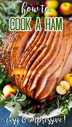 This is a complete guide on how to cook a ham. Ham Recipes, Dinner Recipes, Entree Recipes, Easter Recipes, Dinner Ideas, Ham In The Oven, Ham Dinner, Easter Dinner, Recipes