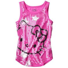 Hello Kitty Girls' Star Tank Cranberry ($13) ❤ liked on Polyvore