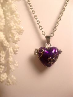Purple Heart Locket Or Prayer Box Necklace by FashionCrashJewelry, $24.50 #RT #promooasis #promoasis