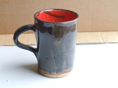 Hand Made Ceramic Pottery Mug Large Mug Black by GoodPotCeramics