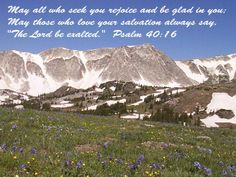 Psalm 40 & 16