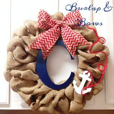 Nautical theme wreath baby shower wreath by TheLittleChandelier, $40.00
