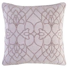 Surya Dotted Pirouette Decorative Throw Pillow Down Lilac - DP004-2222D