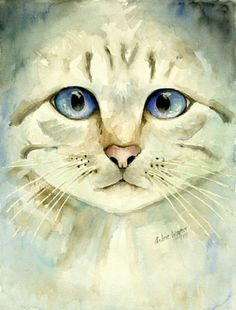 'Blue eyed cat' by Arline Wagner