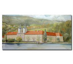 Aktuell eine Arbeit von  Nikolaus Stigloher  bei Galerie Kunst und mehr.  Quirinus Tegernsee  98x50 (BxH) Öl