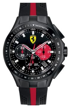 Scuderia Ferrari 'Race Day' Chronograph Watch, 44mm available at #Nordstrom