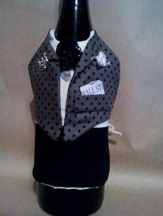Tablier de bouteilles 'majordome' avec jabot et couronne. : Cuisine et service de table par yasmine-creations
