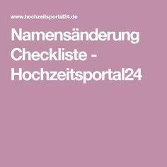 Namensänderung Checkliste - Hochzeitsportal24