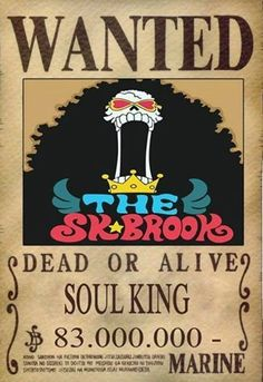Brook Dressrosa Wanted Poster